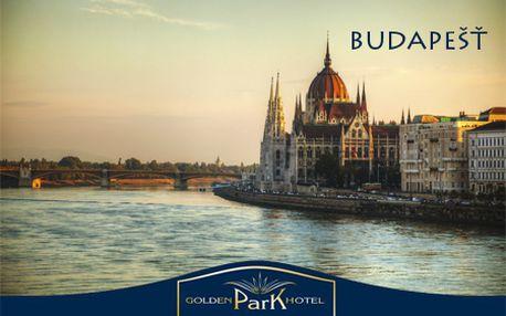 3 alebo 4 dni v centre prekrásnej Budapešti v Golden Park Hotel**** pre 2 osoby! Nechajte sa očariť fascinujúcimi pamiatkami tejto metropoly so zľavou 45%! Dieťa do 12 rokov ZDARMA!