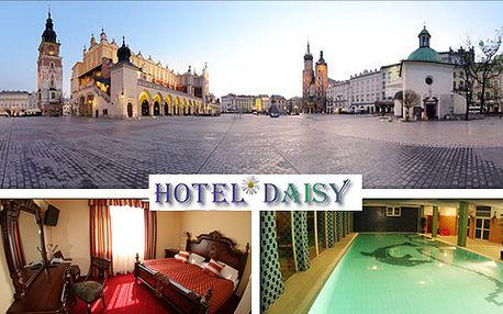 Trojdňový pobyt pre 2 osoby v historickom Krakove za 89 € v hoteli Daisy Superior*** s bazénom a vlastným klziskom. Urobte si skvelý výlet, leťte balónom alebo zažite plavbu loďou po rieke Visla.