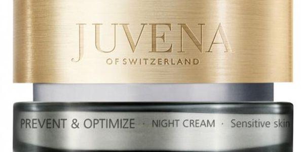 Juvena Noční krém pro citlivou pleť (Prevent & Optimize Night Cream Sensitive) 50 ml + JUVENA Kosmetická taštička písková ZDARMA