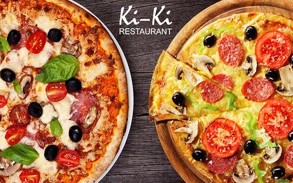 Dvě výtečné pizzy dle vlastního výběru