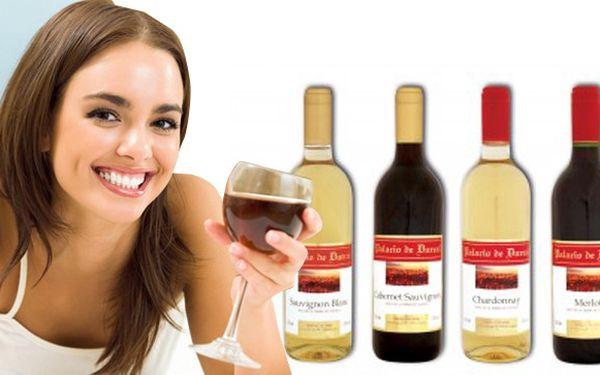 12 lahví španělského vína za 459 Kč