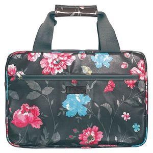 Příruční taška na notebook ve vzoru Penelope brown. Praktické kapsičky!