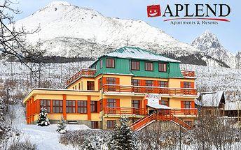 3-dňová lyžovačka v Hornom Smokovci v apartmánoch APLEND Mountain Resort***+ pre 2 alebo 3 osoby! V cene aj raňajky, víno, 90-min. sauna a fitness!