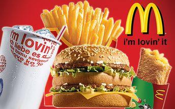 Šťavnatý Big Mac sendvič a k tomu veľký sýtený nápoj, veľké hranolky a jablková taštička len za 2,90 € namiesto pôvodných 5,80 €.
