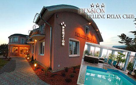 89 € za trojdňový relaxačný pobyt pre 2 osoby v penzióne Hellene Relax Club s polpenziou, vstupom do bazéna a fitness.
