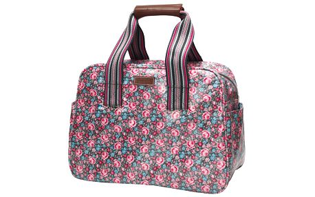 Víkendová taška Sally warm grey. Krásný doplněk k vašemu outfitu
