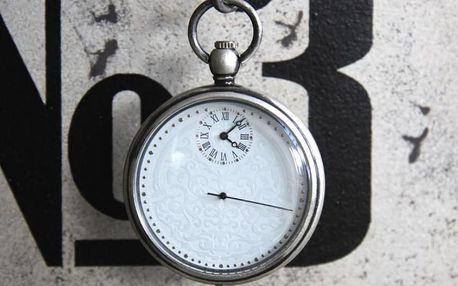 Kapesní hodinky Antik silver. Originální kapesní kovové hodinky. Buďte jako Willy Fog