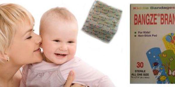 Dětská náplast se zvířátky a balónky, rozměr 56 x 19 mm, 3balení po 30 kusech, vč. poštovného - Využijte vysoké slevy na dětské náplasti!