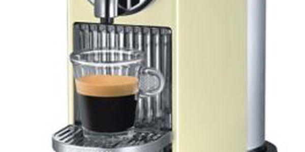 Espresso DELONGHI Citiz. Malé rozměry, krémově bílá barva