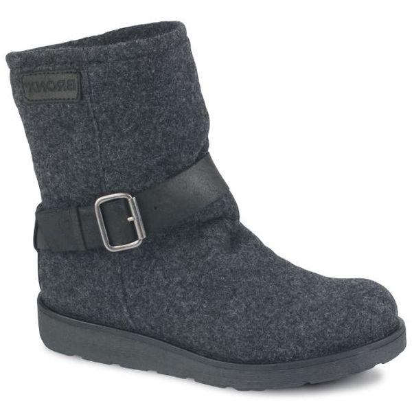 Dámske tmavo šedé melírované kotníčkové boty Bronx