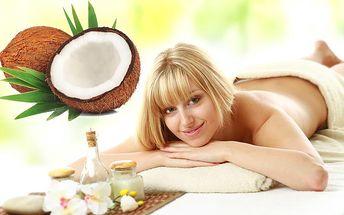 Len 6,75 € za kokosovú masáž. Príjemný relax s exotickou vôňou a zľavou 50%.