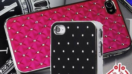Jedinečný kryt s kryštálmi pre iPhone 4/4S v ôsmich farbách za 4,40 € aj s poštovným.