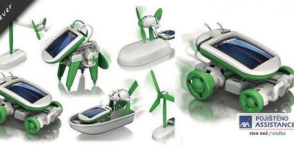Pořiďte svým dětem naučnou hračku SolarBot 6v1. Jde o solární stavebnici nové generace pro malé i velké. Ideální hračka, která spojuje zábavu se vzděláním. Nyní se slevou 68% jen za 129 Kč.