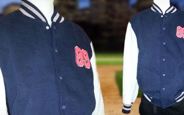 Moderní pánská baseballová bunda pro sport i běžné nošení