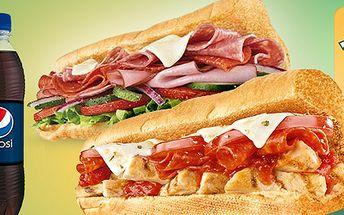 Sendviče a nápoje pro dva ze Subway