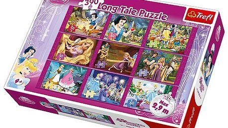 Kvalitní dětské puzzle 9v1 TREFL - Disney Princezny - dlouhý příběh