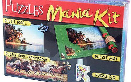 Značkové Puzzle CLEMENTONI - Puzzle sada (podložka, lepidlo, 2x1000 dílků)