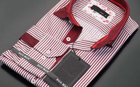 ELEGÁN každým coulem! Stylová pánská košile EGO MAN s dlouhým rukávem, různé barvy, dostupné všechny velikosti