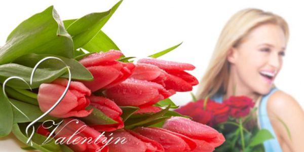 Valentýn se blíží! Buďte připraveni a překvapte svou milou krásnými holandskými tulipány nebo kyticí rudých růží se vzkazem! 9 růží Vás vyjde jen na 259 Kč a za 15 růží zaplatíte pouhých 429 Kč! Doprava po Praze 1, 2, 3 ZDARMA!
