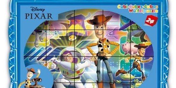 Dětské obrázkové kostky plastové Pixar MIX. Podporují u nejmenších dětí koordinaci a motoriku