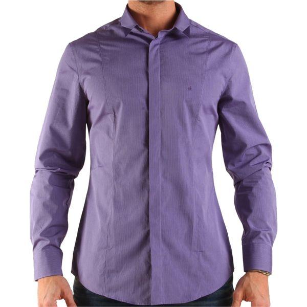 Pánská košile Calvin Klein fialová