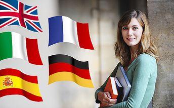 Kurz angličtiny, nemčiny, španielčiny, francúzštiny alebo taliančiny v malých skupinách ZA POLOVICU! V ponuke aj KONVERZAČNÉ kurzy!
