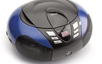 Lenco SCD-37 BL přenosné rádio s CD a USB. Doprava zdarma!
