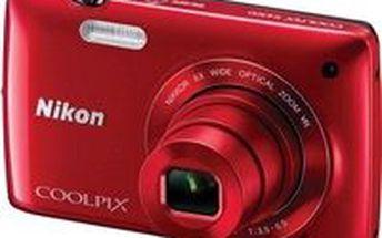 Digitální fotoaparát Nikon COOLPIX S4300 red. Sleva 16%. Kvalita z Alza.cz