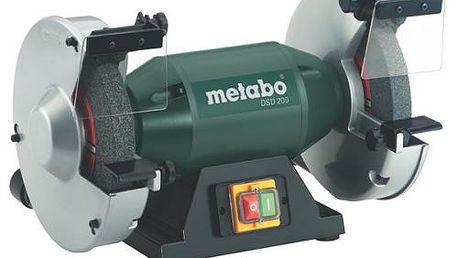 Dvoukotoučová bruska Metabo DS D 200 s tichým indukčním motorem.