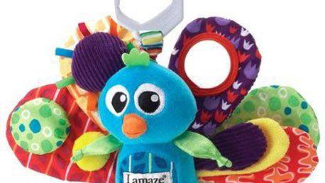 Lamaze Páv Emil. Inovativní chrastítko upoutává dětskou pozornost a podporuje rozvoj koncentrace.
