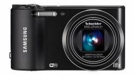 Fotoaparát Samsung EC-WB150 s 18násobným optickým zoomem a optickou stabilizací obrazu.