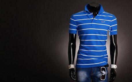 Pánske polo tričko značky NIKE Athletic Dept v modrobielej farbe! Kvalitné spracovanie a materiál, rôzne veľkosti na výber!