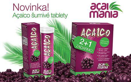 Zľava 41% na šumivé tablety Acaico. Najsilnejší prírodný antioxidant už od 8,40 €. Cena už vrátane poštovného. Schudnite a vyzerajte mlado - objavte silu najzdravšieho ovocia na svete z amazonského pralesa.