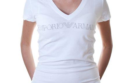 Dámské triko Emporio Armani bílé Logo potisk