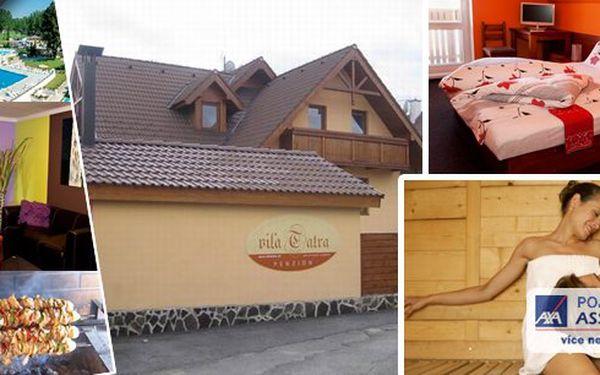 Vysoké Tatry pro dva na 3 dny se snídaní a vstupem do sauny v rodinném penzionu Vila Tatra za úžasnou cenu!! Děti do 4 let zdarma!!Nádherná příroda, skvělé možnosti lyžování, v létě turistika, pohádkové výhledy. Zkrátka hodně zábavy za málo peněz!!