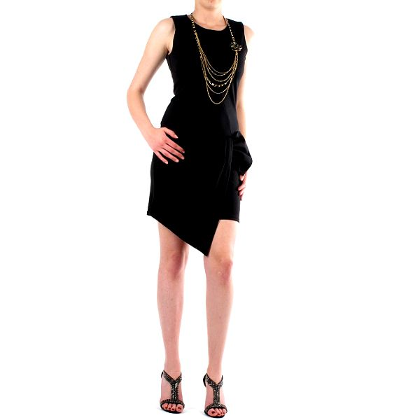 Dámske čierne šaty Fifilles de Paris s veľkou mašľou