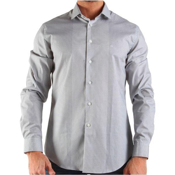 Pánská košile Calvin Klein šedá se vzorem