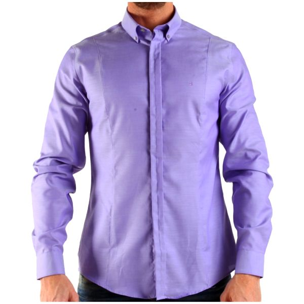 Pánská košile Calvin Klein lila stylové zapínání