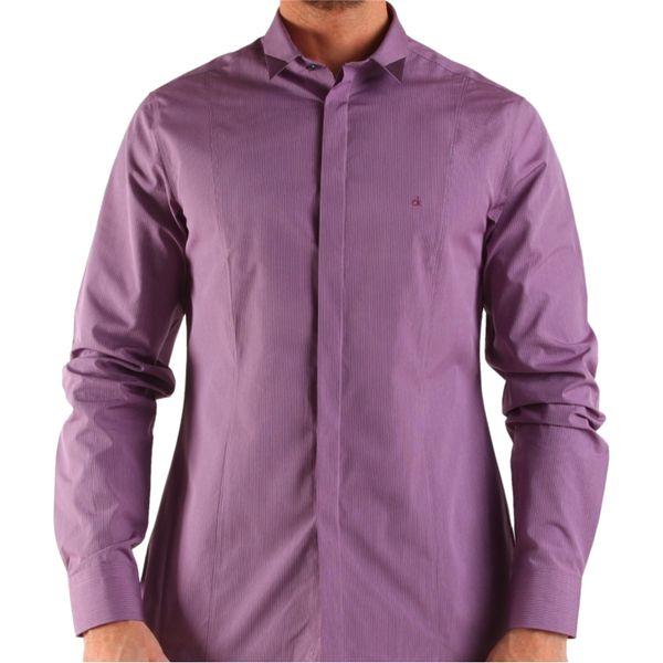 Pánská košile Calvin Klein růžovo-fialová