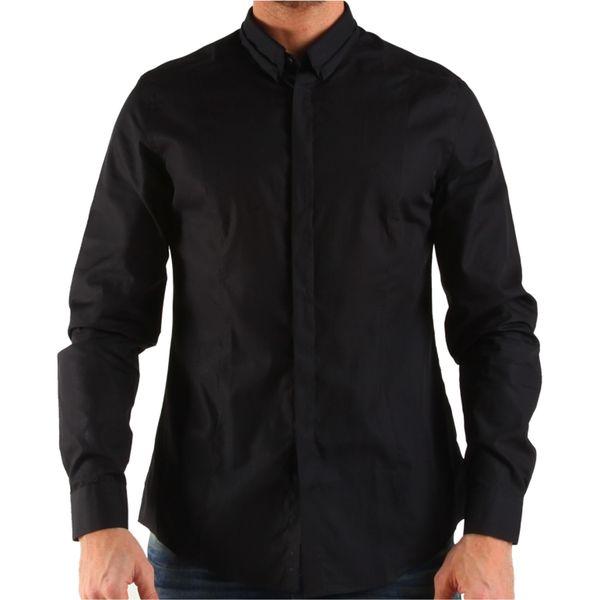 Pánská košile Calvin Klein černá stylové zapínání