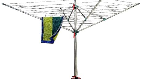 Zahradní sušák Promo Blome 82255 s dostatečnou plochou až pro 4 pračky prádla. Vysoká odolnost proti korozi.