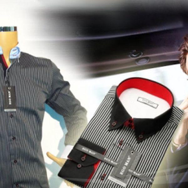 Luxusní PÁNSKÉ KOŠILE značky EGO MAN za super cenu 499 Kč! Potěšte svého miláčka kvalitní košilí, ve které bude vypadat dobře při každé příležitosti! Sleva 37%!