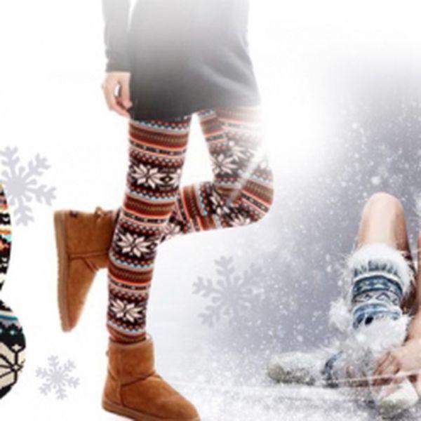 Dámské ZIMNÍ LEGÍNY S NORSKÝM VZOREM za jedinečných 139 Kč! Osobní odběr ZDARMA! Praktický módní doplněk do dámského šatníku! Buďte stylová se slevou 50%!