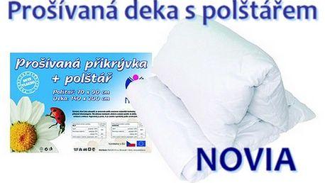 PROŠÍVANÁ PŘIKRÝVKA S POLŠTÁŘEM, zn. Novia