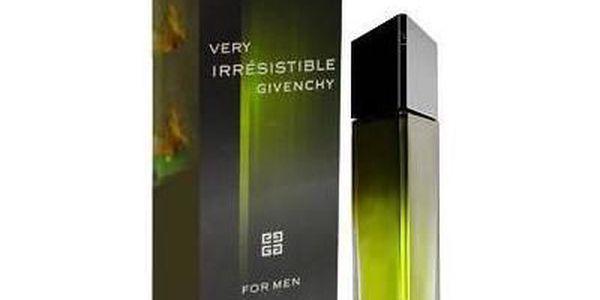 Pánská vůně Givenchy Very Irresistible 50ml. Načerpejte sílu mužství ze zeleného proudu energie.