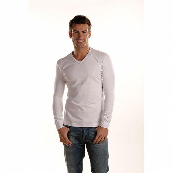 Pánské bílé tričko Gianfranco Ferré s dlouhým rukávem