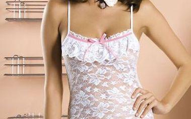 Košilka Obsessive Curacao z jemné elastické krajky s květinovým vzorem.