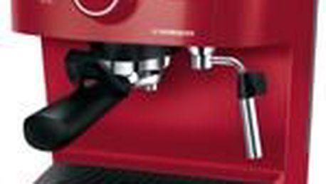 Espresso Electrolux EEA255 v podmanivé červené barvě