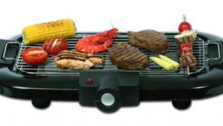 Menší stolní gril OBH NORDICA Kentucky BBQ 7115. Využijete venku i doma.