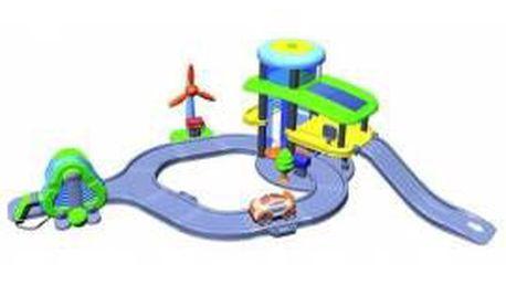 Dobře vybavená garáž pro děti od 3 let SILVERLIT 65003 FWC Green garage